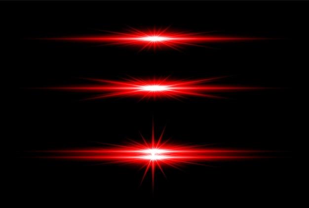 Rotes goldenes transparentes licht lens flares design eps