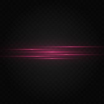 Rotes horizontales linseneffektpaket.