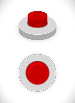 Rotes knopfkonzeptsymbol