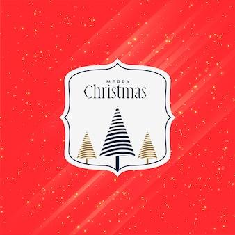 Rotes kreatives grußdesign der frohen weihnachten