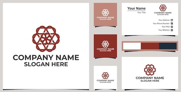 Rotes mandala-logo
