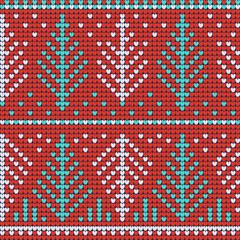Rotes nahtloses muster der weihnachtshässlichen strickjacke