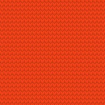 Rotes realistisches nahtloses strickmuster. und beinhaltet auch