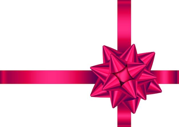 Rotes satinband und schleife für geschenkbox