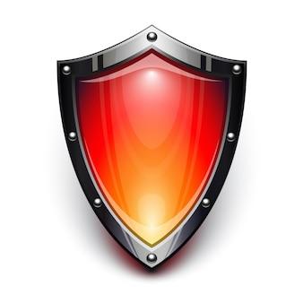 Rotes sicherheitsschild