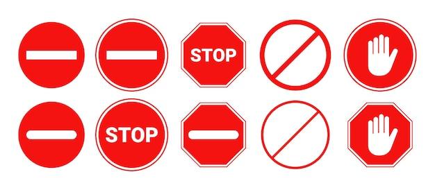 Rotes stoppschild isoliert.