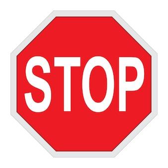 Rotes stoppschild isolierte darstellung