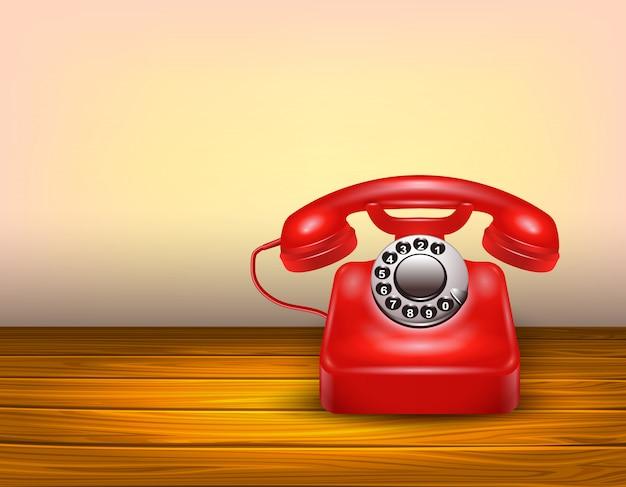 Rotes telefonkonzept