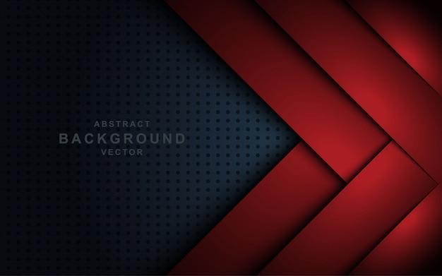 Rotes überlappungspapier auf dunklem hintergrund.
