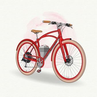 Rotes vintage fahrrad
