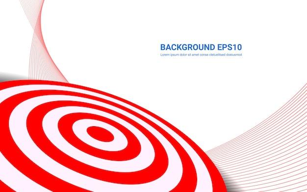 Rotes zielbrett auf weißem hintergrund. schießenziel-lösungskonzept.