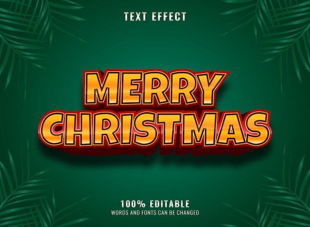 Rotgold luxus frohe weihnachten editierbarer texteffekt