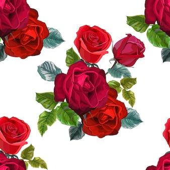 Rotrosenblume für grußkarten und einladungen der hochzeit
