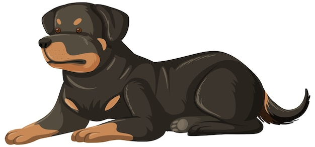 Rottweiler cartoon-stil