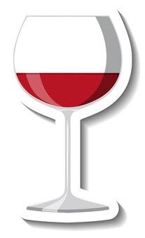 Rotwein auf glasaufklebervorlage