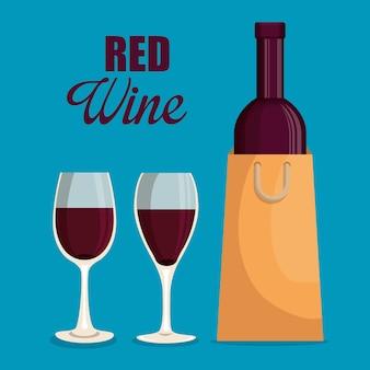 Rotweinflaschen etikett