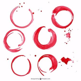 Rotweinflecken