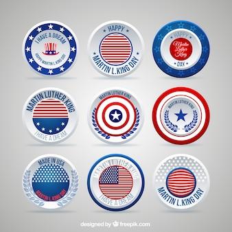 Roud amerikanische abzeichen