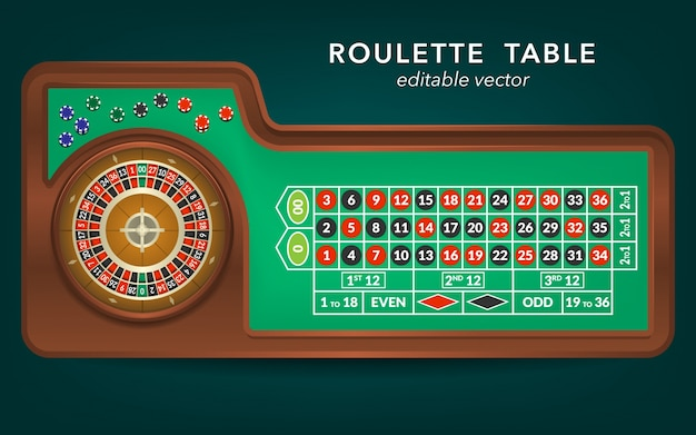 Roulette casino tischansicht