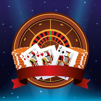 Roulette poker karten chips banner wettspiel glücksspiel casino