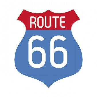 Route 66 roadsign symbol