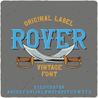 Rover-label-schrift