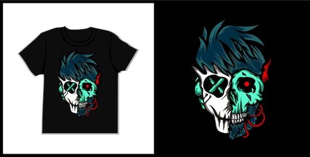 Rox schädel illustration t-shirt