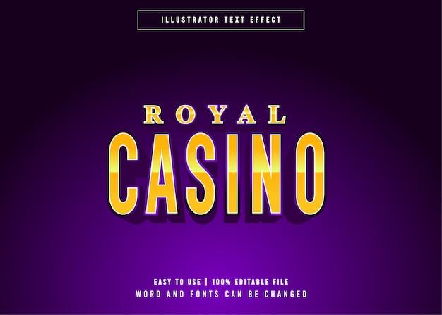 Royal casino golden gaming bearbeitbarer texteffekt