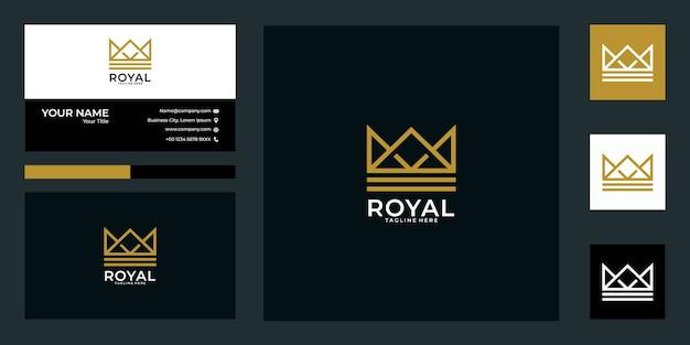 Royal crown logo design und visitenkarte.