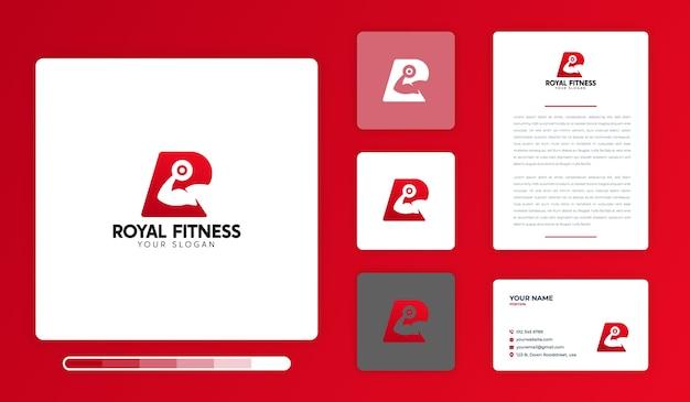 Royal fitness logo design vorlage