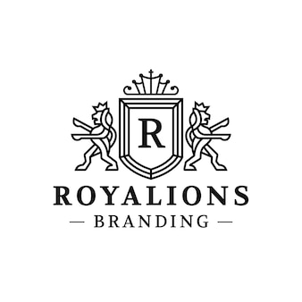 Royal lions crest logo design