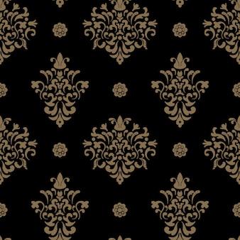 Royal nahtloses muster barock. vintage dekorativer hintergrundentwurf.
