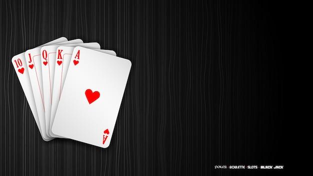 Royal straight flush spielkarten poker