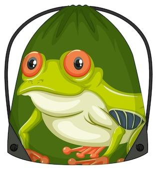 Rucksack mit kordelzug mit froschmuster