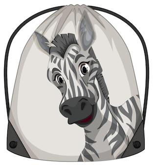 Rucksack mit kordelzug mit zebramuster