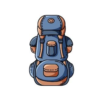 Rucksack-symbol. flaches design