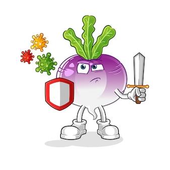 Rübe gegen viren cartoon