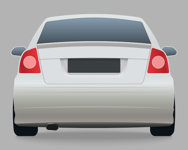 Rückansicht des weißen autos
