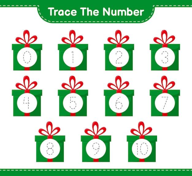 Rückverfolgungsnummer mit geschenkboxen