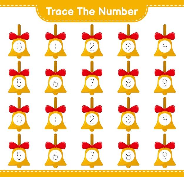 Rückverfolgungsnummer mit goldenen weihnachtsglocken