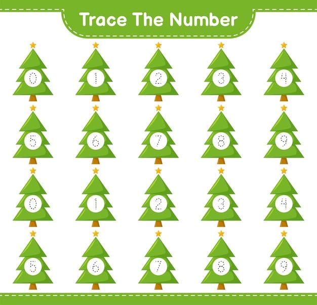 Rückverfolgungsnummer mit weihnachtsbaum