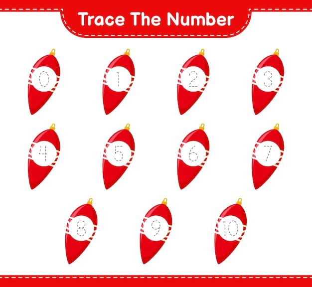 Rückverfolgungsnummer mit weihnachtslichtern
