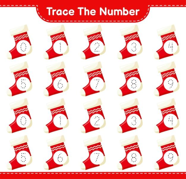 Rückverfolgungsnummer mit weihnachtsstrumpf
