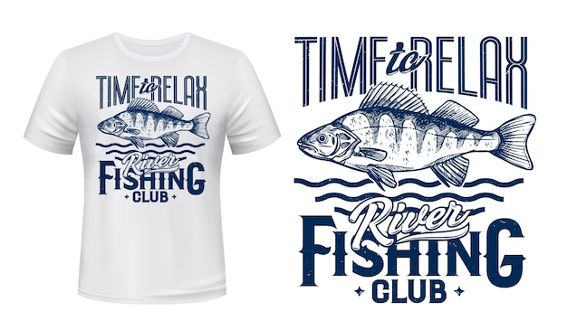 Ruffe fisch für t-shirt design