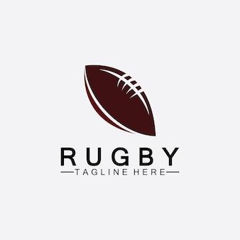 Rugby ball american football symbol vektor logo vorlage