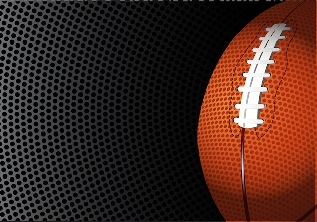 Rugby des amerikanischen fußballs auf schwarzer kreismasche