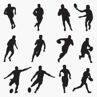 Rugby-silhouetten