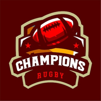 Rugby sport logo meister