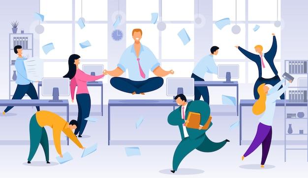 Ruhe und gleichgewicht im büroarbeits-chaos