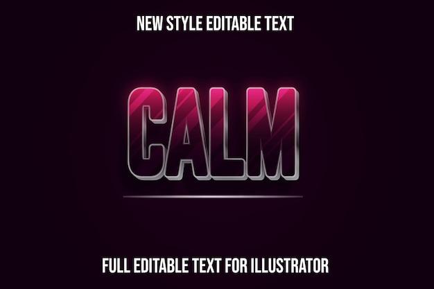 Ruhige farbe rosa und schwarzer farbverlauf des texteffekts 3d